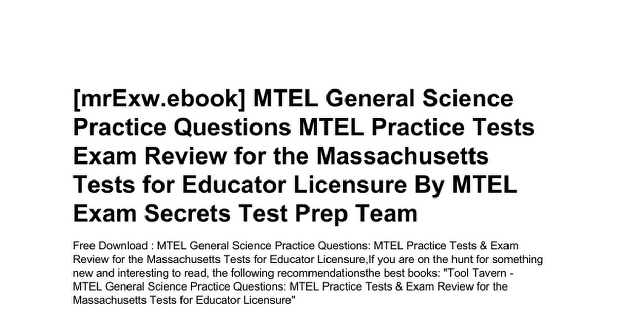 mtel-general-science-practice-questions-mtel-practice-tests-exam