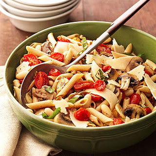 Roasted Tomato and Mushroom Pasta Salad