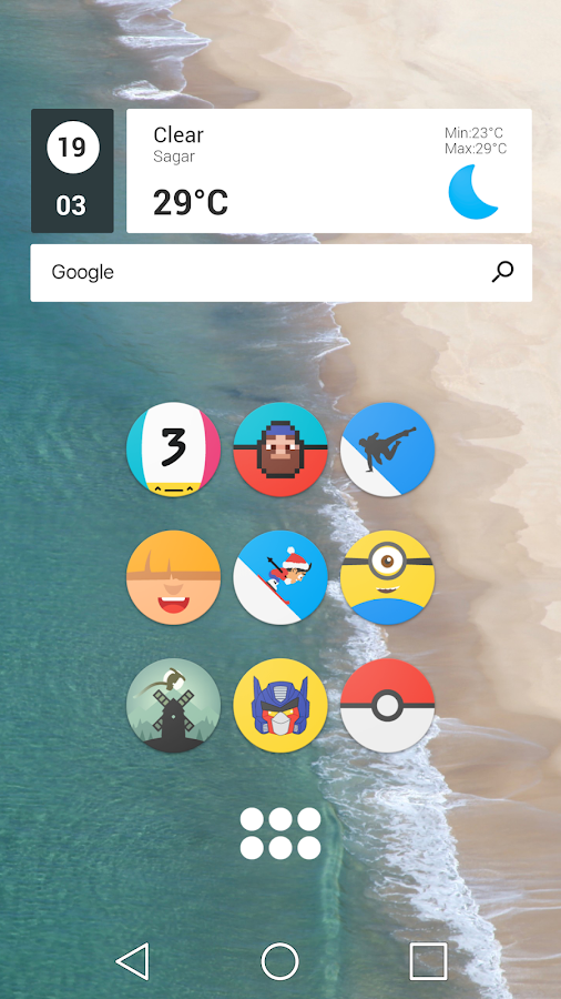 Pixel Icon Pack-Nougat Free UI- screenshot