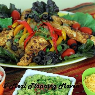 Cinco de Mayo Chicken Fajita Salad.