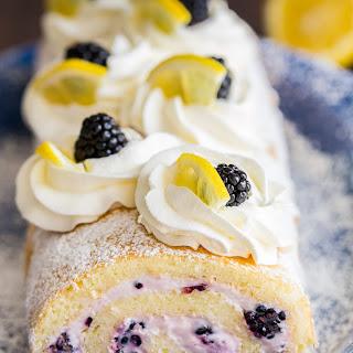 Blackberry Lemon Cake Roll (VIDEO).