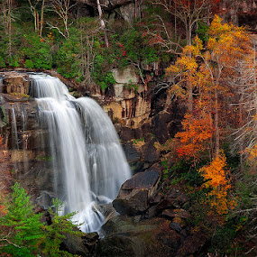 Whitewater Falls by Charles Hardin - Landscapes Waterscapes ( mountain of wnc, waterfalls, autumn, whitewater falls, north carolina, wnc )