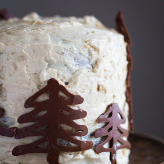Gingerbread Cake with Brown Sugar Buttercream Frosting.