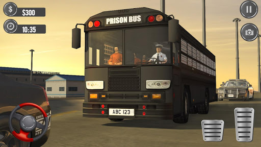 Jail Prisoner Transport Police Bus Drive