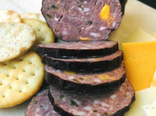 Jalapeno Cheddar Summer Sausage (elk) Recipe