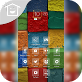 Colorful Stones Wall Theme