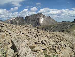 Photo: McHenrys Peak from the Continental Divide below Mount Alice.