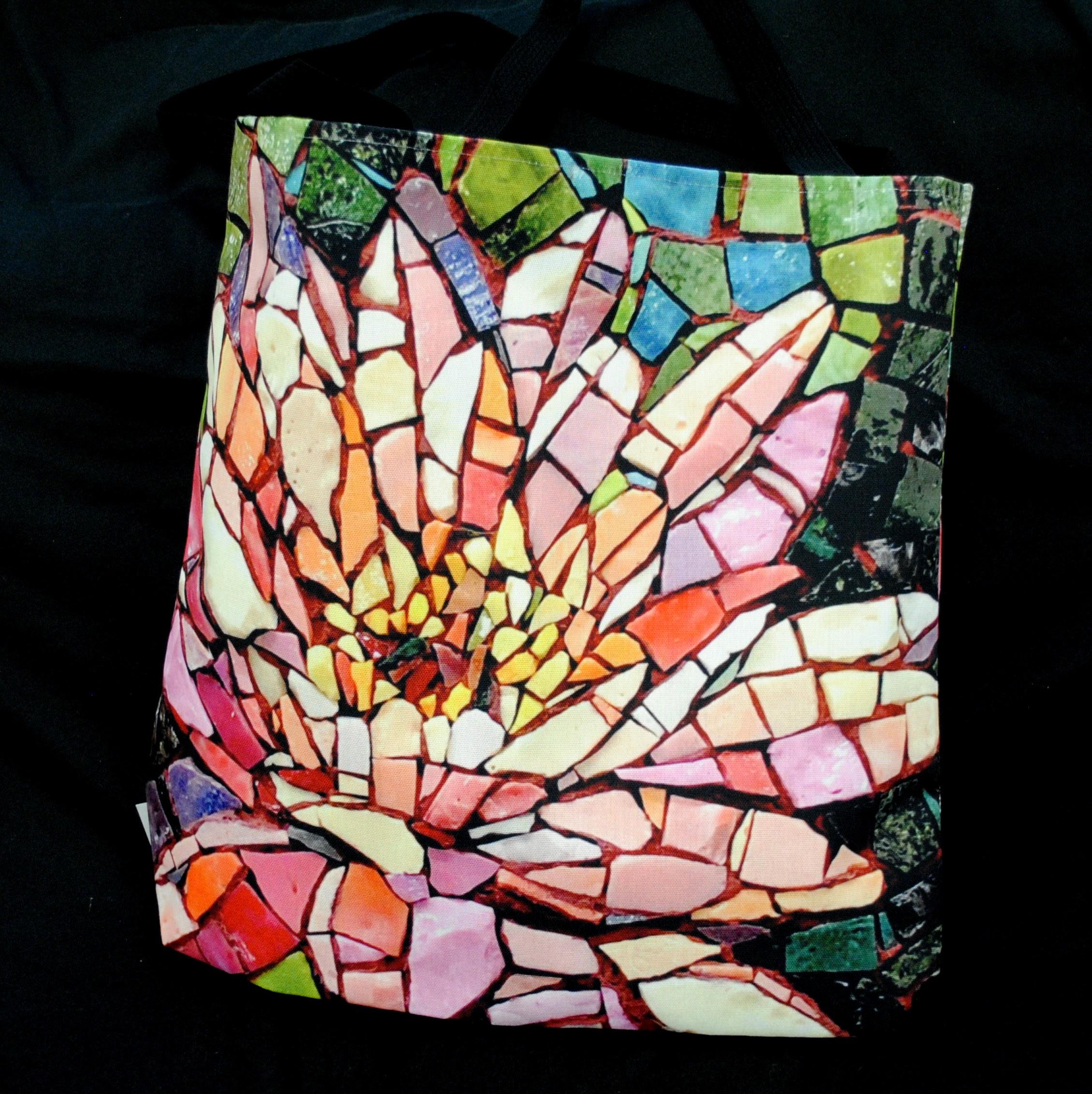 Mosaic Artwork Tote Bags