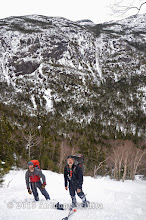 Photo: Adam and Kevin below the base, Haystack in the background.