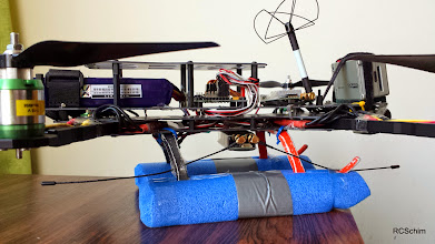 Photo: EzUHF mounted on bottom, VTX Antenna angled back on purpose!