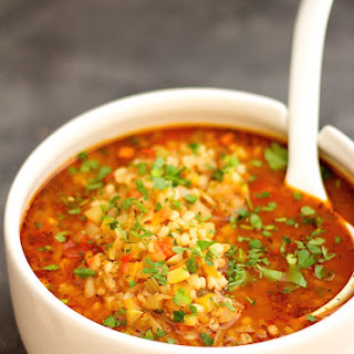 Vegetable Barley Soup With Cabbage Recipes.