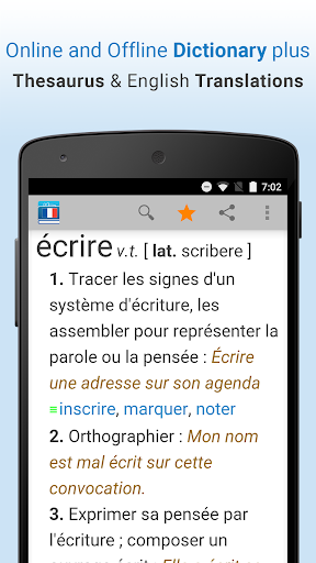 French Dictionary & Thesaurus 1.6 screenshots 1