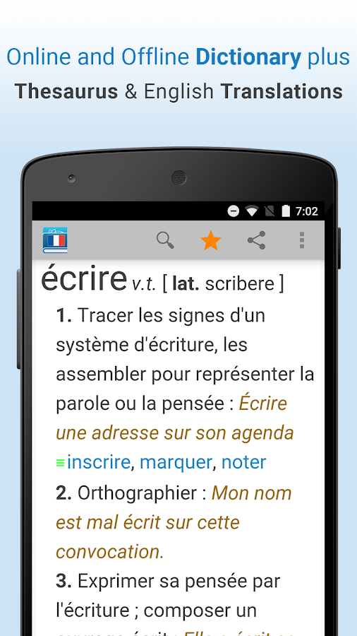 French Dictionary & Thesaurus- screenshot