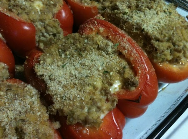 Buffalo Blue Stuffed Peppers Recipe