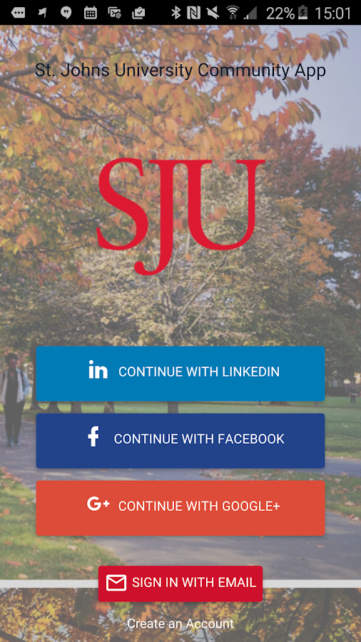 St. John's University App- screenshot
