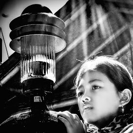 My little Girl 2 by M Thantowi - Black & White Portraits & People