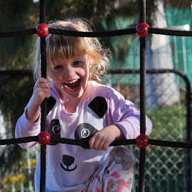 Loving Life by Garry Dosa - Babies & Children Children Candids ( outdoors, smiliing, girl, park, fun, child,  )