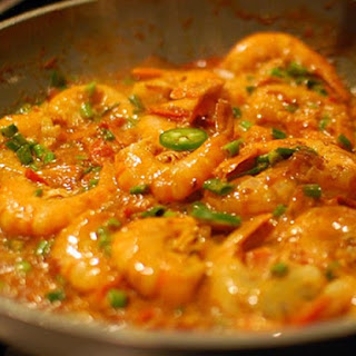 Retro Prawn Curry With Rice.