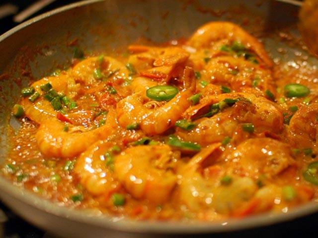 Retro Prawn Curry with Rice Recipe