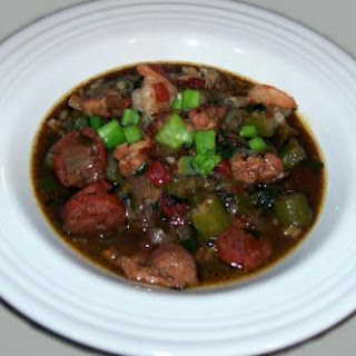 Chicken, Sausage & Shrimp Gumbo by Mellina.