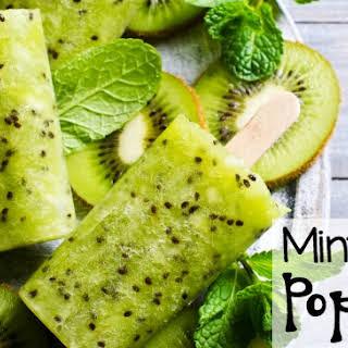 Mint & Kiwi Popsicles.