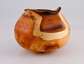 "Photo: Richard Webster - 6"" x 5"" vessel [Yew]"