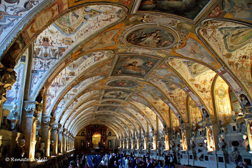 Germany-Munich-Antiquarium - The Antiquarium is the oldest room of the Residenz München in Munich, Germany. It's the largest and most lavish Renaissance interior north of the Alps.