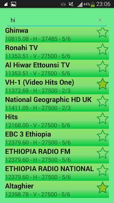 NileSat & EutelSat Frequencies - screenshot