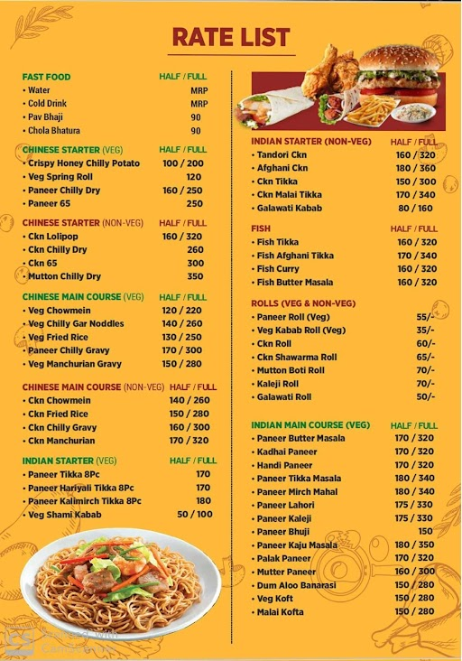 The Manish Eating Point menu 1