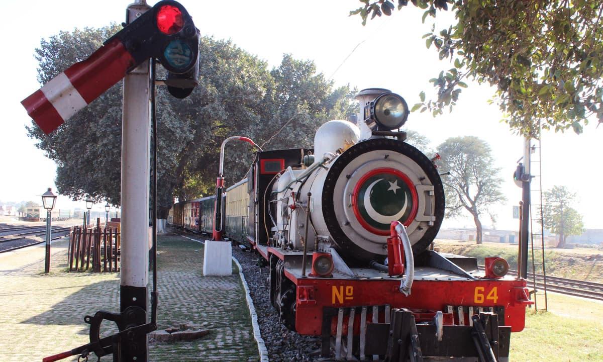 Narrow-gauge engine at Golra Railway Station - Rail Safari from Golra to Attock Khurd Station
