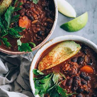 Spicy Black Bean Soup Vegetarian Recipes.