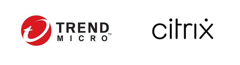 Trend micro en Citrix logo