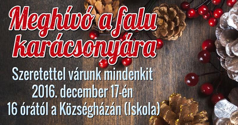 Meghívó a falu  karácsonyára 2016. december 17