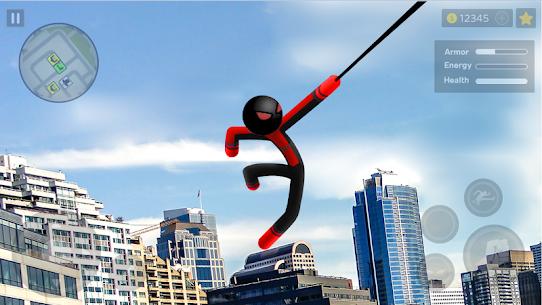 Spider Stickman Rope: Vegas Crime City Hero 1