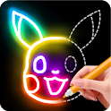 Learn to Draw Glow Cartoon icon