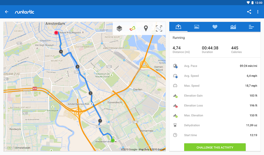 Runtastic Running PRO - screenshot