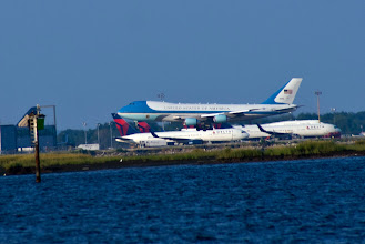 Photo: Air Force One Landing at JFK Airport