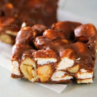 Slow Cooker Rocky Road Bars.