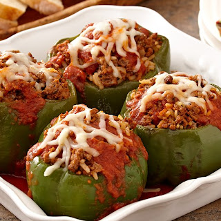 Stuffed Peppers Rice Ground Beef Tomato Sauce Recipes