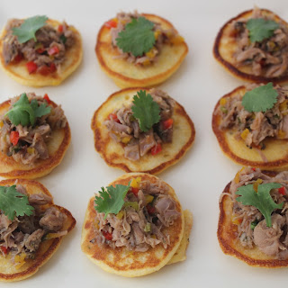 Corncakes with Confit of Duck and Hot Pepper Jelly Recipe