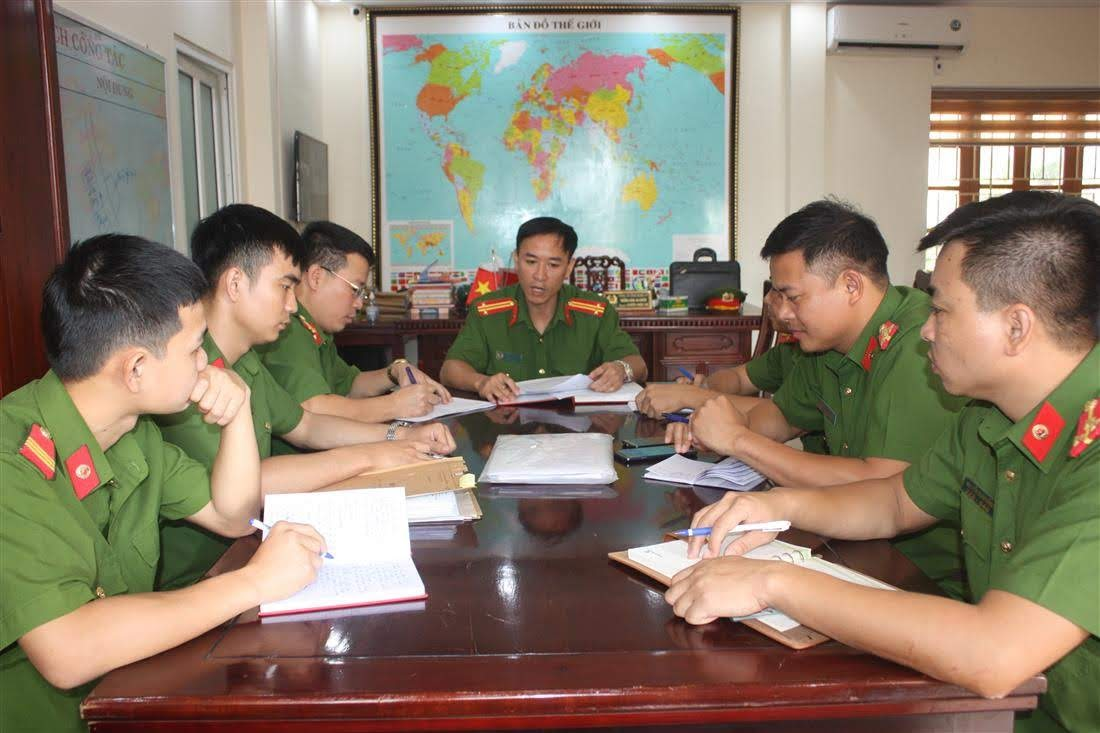 Công an huyện Nghi Lộc họp bàn công tác bảo đảm ANTT