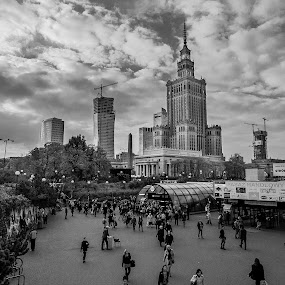 Warsaw City by Hadinur Jufri - Buildings & Architecture Public & Historical ( hadinur, canon, palac kultury, 10mm, architecture, warsaw, jufri, city )