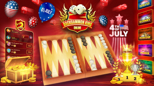 Backgammon King Online ud83cudfb2 Free Social Board Game screenshots 1