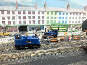 Photo: 017 Peco Jeanette and Glyn Valley locomotives provided the (static) motive power for the layout during the period of my visit with the camera .