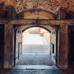 Fort Macon Entrance Way by Theo Staszko - City,  Street & Park  Historic Districts