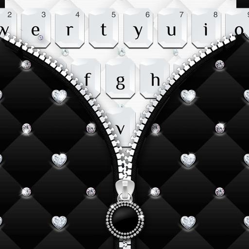 Black White Zipper Keyboard