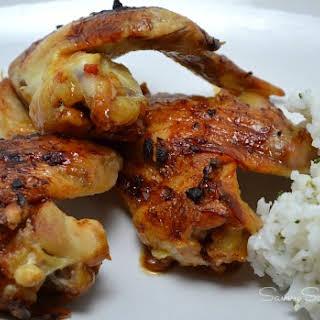 Homemade Honey Garlic Chicken Wings.