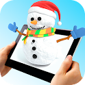 Live Snowman! Christmas cards icon