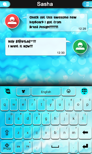 Oxygen keyboard theme