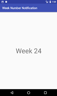 Week Number Notification - náhled